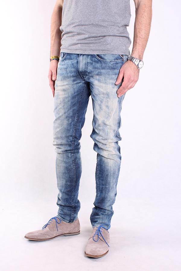 Trousers Herren Jeans Schwarz Denim Hose Neu Replay M914 473 07S 098 Anbass